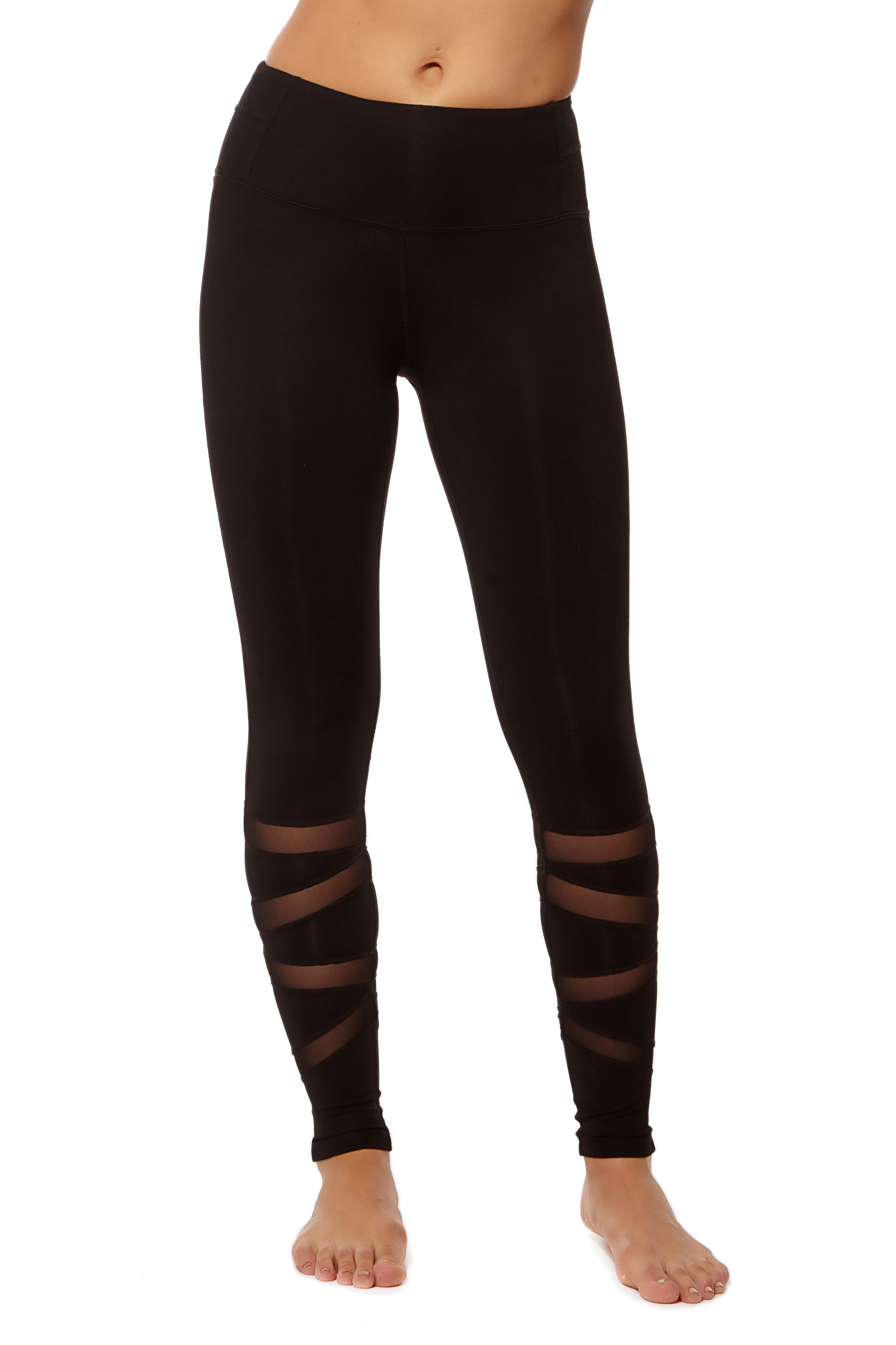 Form Fitting Leggings with Calf Zigzag Mesh (1)