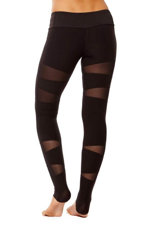 Form Fitting Leggings with Mesh Vector Panels (2)
