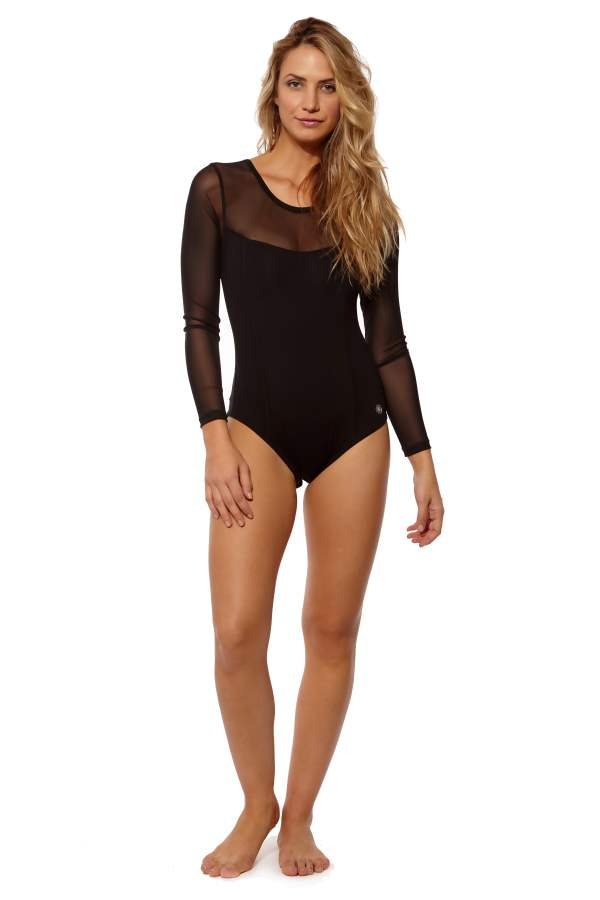 High Performance Leotard with Mesh Sleeves (1)