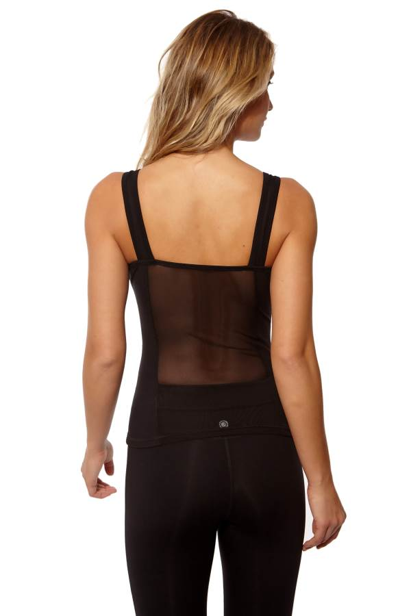 High Performance Mesh Yoga Outfit - Tank Top With Leggings